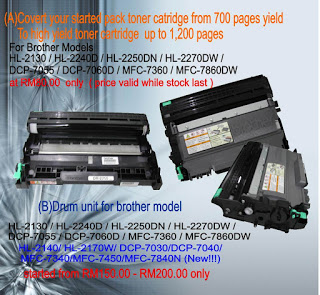 Brother toner cartridges -Covert your started pack to high Yield