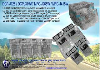 Original Brother inkjet cartridge L39 CMYK -4 colors
